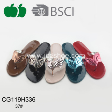 Hot Sale Flat Woman Plastic Slippers